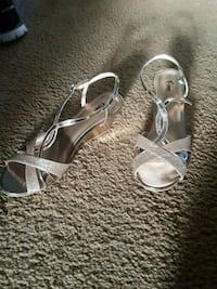 Gold sandals (barely worn)