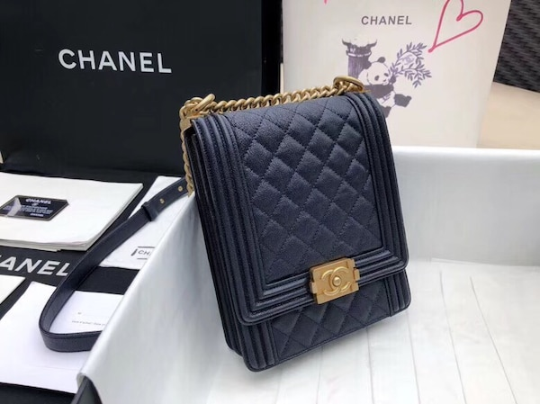 c77b4ba3f280 Used quilted black Chanel leather crossbody bag for sale in Dallas ...