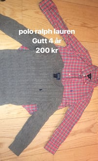 rosa og svart plaid button-up skjorte Kristiansand S, 4634