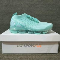pair of green Nike vapormax Sterling, 20166