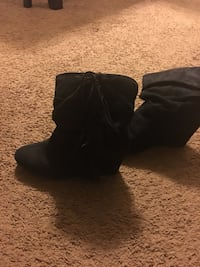 black suede mid-calf boots Lansing, 48911