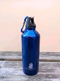 NEW 16oz blue water bottle with carabiner Markham