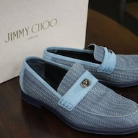 Jimmy Choo Darblay Penny Loafers Jean Woven Suede