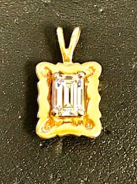Diamond charm pendant