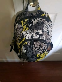 black and white floral backpack Ranson, 25438