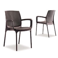two black resto terace  armchairs
