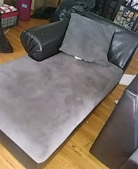 gray and black fabric sofa chair Montebello, 90640