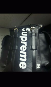 black and white Supreme leather bag Toronto, M8Z 1R5
