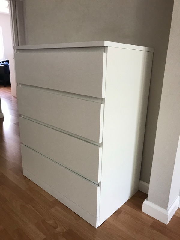 Sold Ikea Malm 4 Drawer Chest White