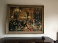 Italian painting with gold frame  Toronto, M3H 4R4