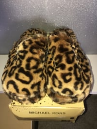 Michael Kors leopard print Furry Slippers Melbourne, 32935