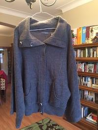 Grey knitted cape sweater