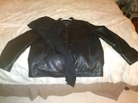 Apt. 9 leather jacket w/ removable hoodie