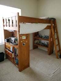 Bunk bed set, solid wood frames, drawers, computer desk all attached  Fairfax, 22030