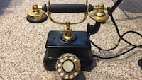 brass and black cradle telephone vintage Frederick, 21703