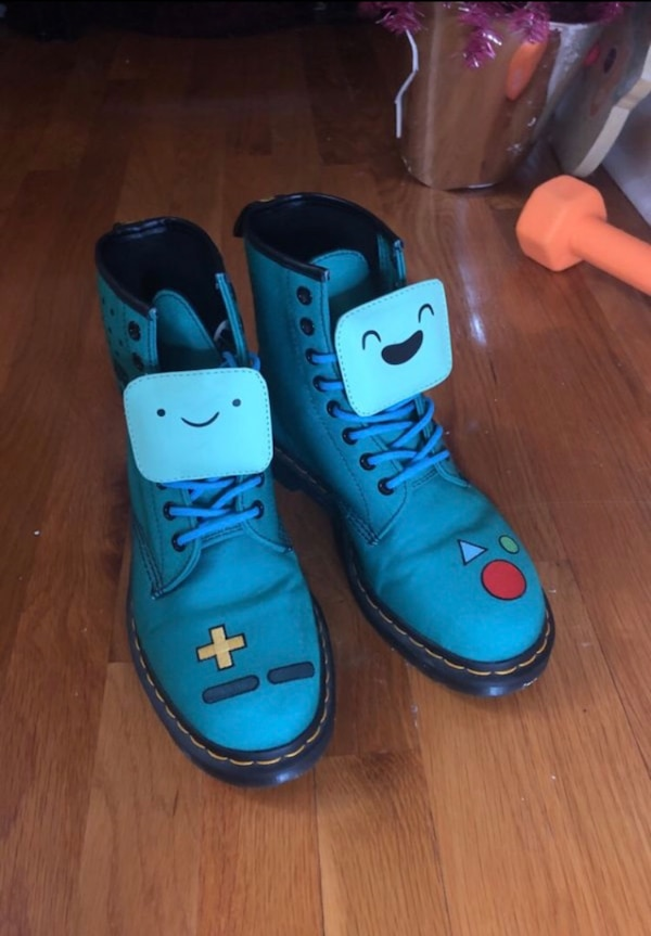 64e5254b Used Official Doc Marten BMO boots from Adventure Time for sale in New  Orleans - letgo