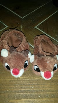 Rudolph Toddler/Toy Slippers