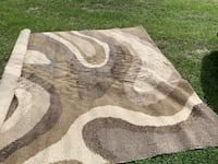10' x 13' Contemporary Rug with padding - wave or marble pattern   Flagler Beach, 32136