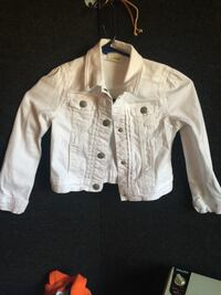 Girls white denim jacket Davie, 33324