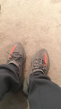 gray Adidas Yeezy Boost 350 V1 shoes