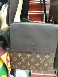 black and brown Louis Vuitton leather tote bag Montreal, H3N 2R6