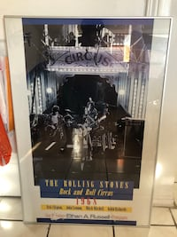 Poster (the Rolling Stones rock and roll circus 1968) antique Toronto, M4X 1G2
