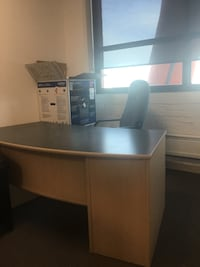 Office executive desk and shelf