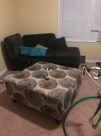 Couch with ottoman (bike not included)
