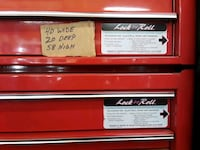 red and black snap on tool chest Gastonia, 28056