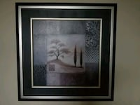 white and gray flower painting with black wooden frame Toronto, M6R 1B5