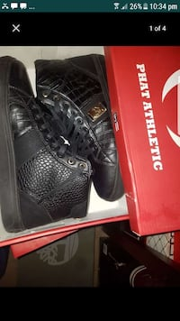 black leather Phat Athletic high top sneakers in b Cheverly, 20785