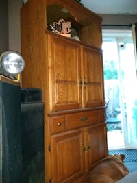 brown wooden cabinet with hutch Kitchener, N2E 2Y5