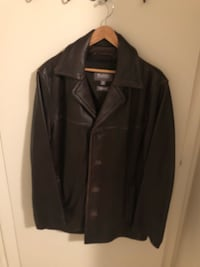Men's Brown Leather Coat Reston, 20194