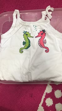 white, pink, and green seahorse-print camisole Hillsboro, 97123
