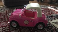 Pink and white ride-on toy car Longwood, 32750