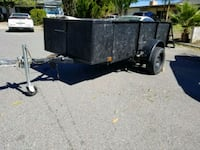 black and gray utility trailer Highland, 92346