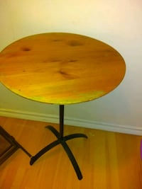 round brown wooden folding table Edmonton, T6C 0K1