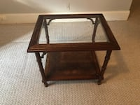 Wood and Glass Side Table Marietta, 30067