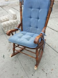 blue and brown wooden armchair Fresno, 93702