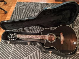 Ibanez acoustic electric guitar (left-handed)