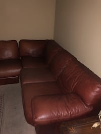 Brown/Red Leather Sectional(Two Piece) Cudahy, 90201