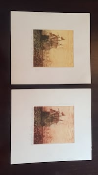2 lithos signed by artist Howell