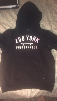 black and white Zoo York pullover hoodie