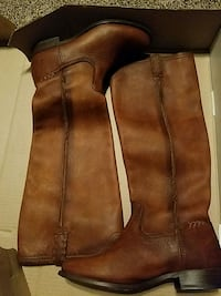 Frye Calf High Genuine Leather Boots Baltimore