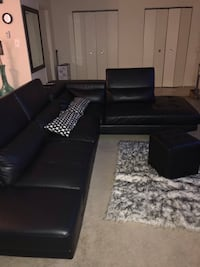 black leather tufted sectional sofa Baltimore, 21205
