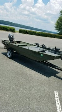 12ft jon boat with deck and fully functioning trailer