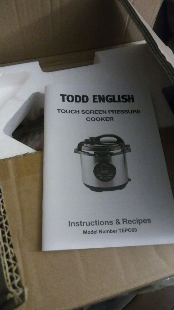 New - New Todd English digital presure cooker  b164439d-d2a6-4112-8114-8849032fba52