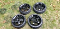 4  17in wheels rims and tires  4x100   4x114.3