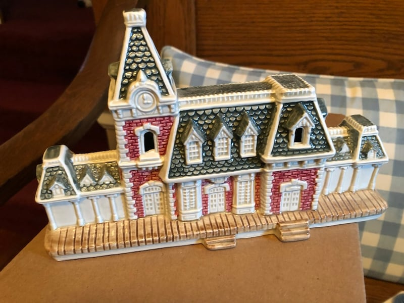 Vintage Disney train station 2f2727f6-db0b-40c9-9df9-3c304576d6c6