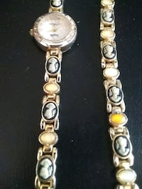 Jewelry matching watch and bracelet